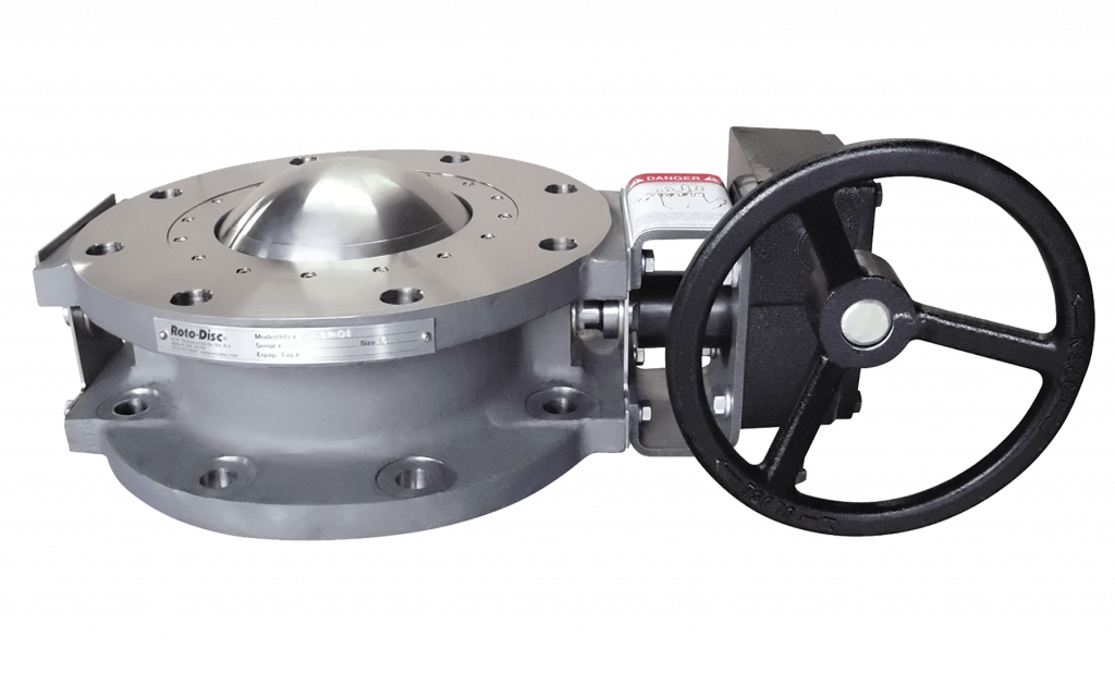 roto disc valve with hand wheel operation