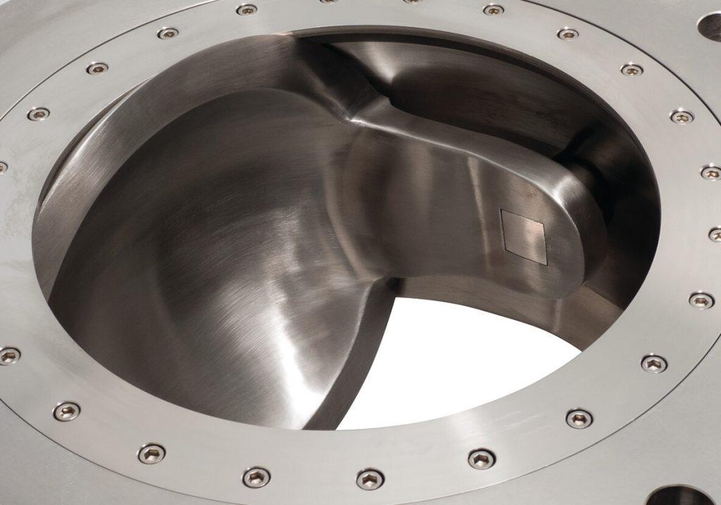 roto disc valve close up view