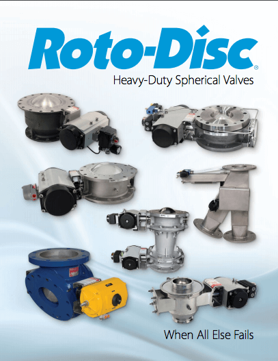Poster of the different valves offered through Roto-Disc