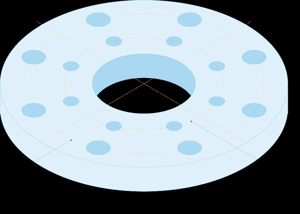 flange mating pattern diagram blue print