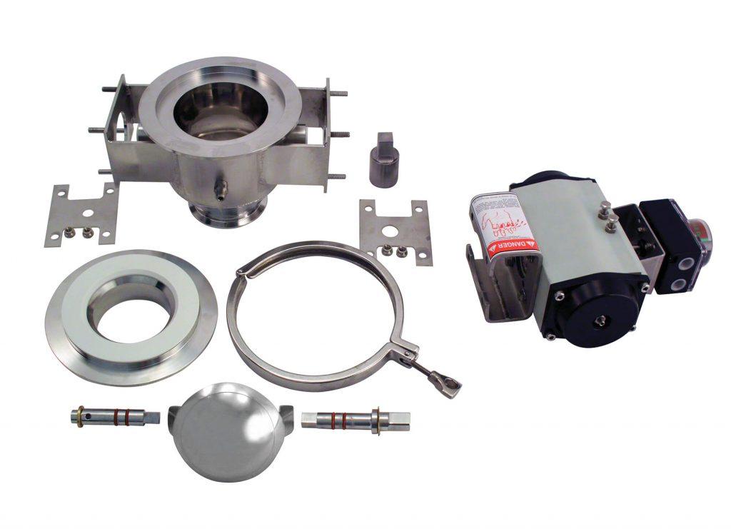 roto clean valve parts laid out