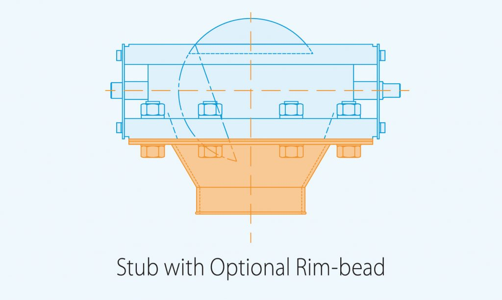 stud with optional rim bead product diagram